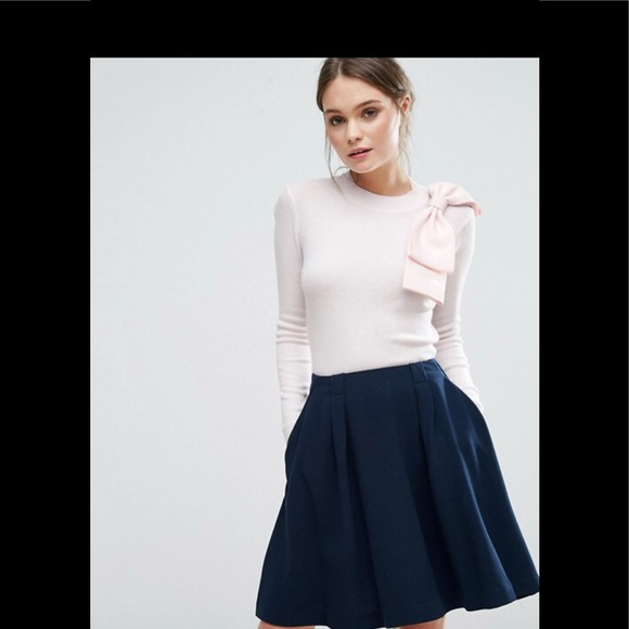 3200a5a87410d4 Ted Baker London Sweaters - Ted Baker London Nehru Bow Lt. Pink Sweater 1